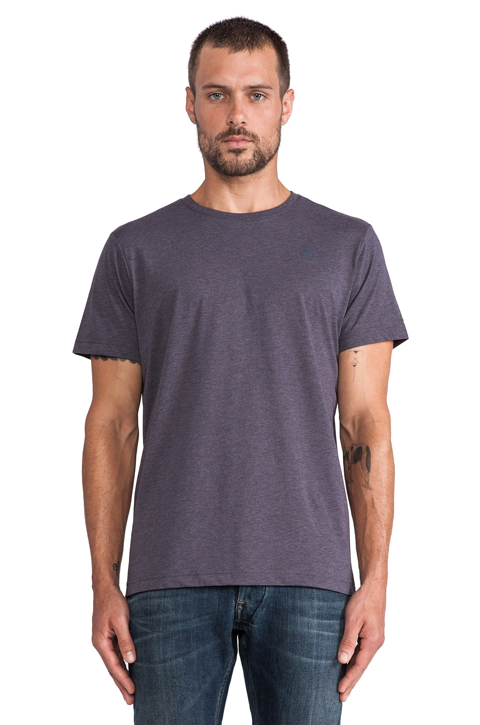G-Star 2-Pack Crew Neck Tees in Petrol Heather