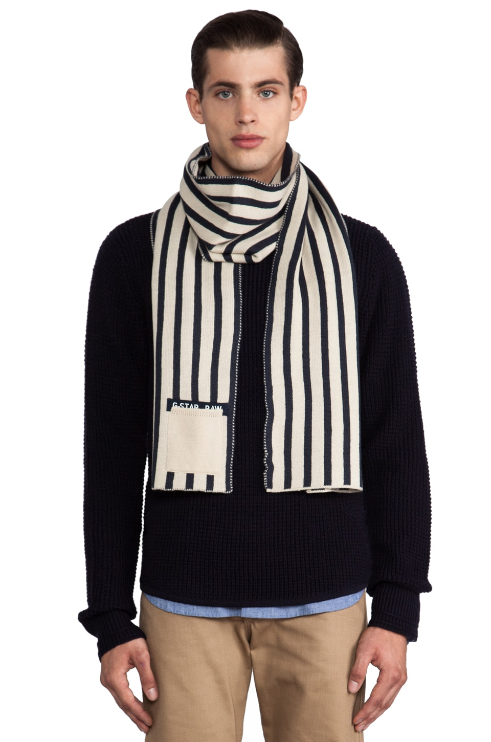 G-Star Grant Scarf in Japan Blue/Bisque