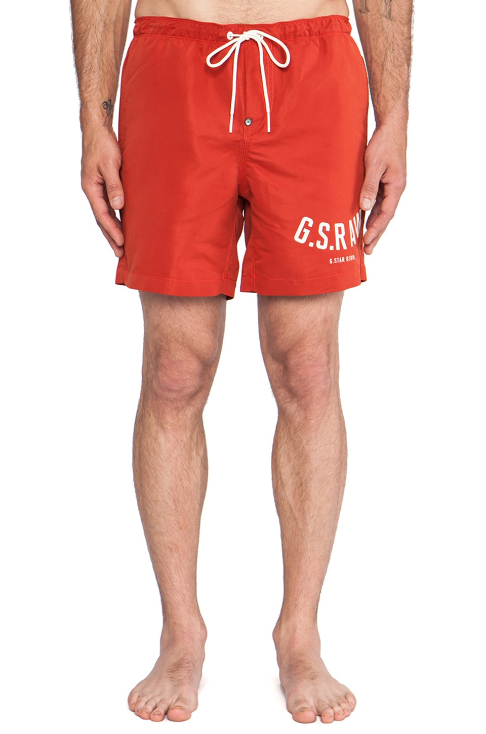 G-Star Pilon Beach Shorts in Antic Red