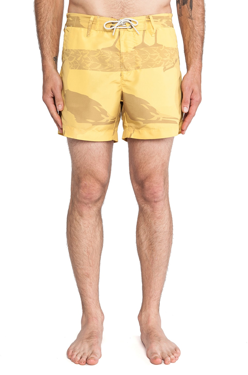 G-Star Islander Swimshorts in Dark Lemon