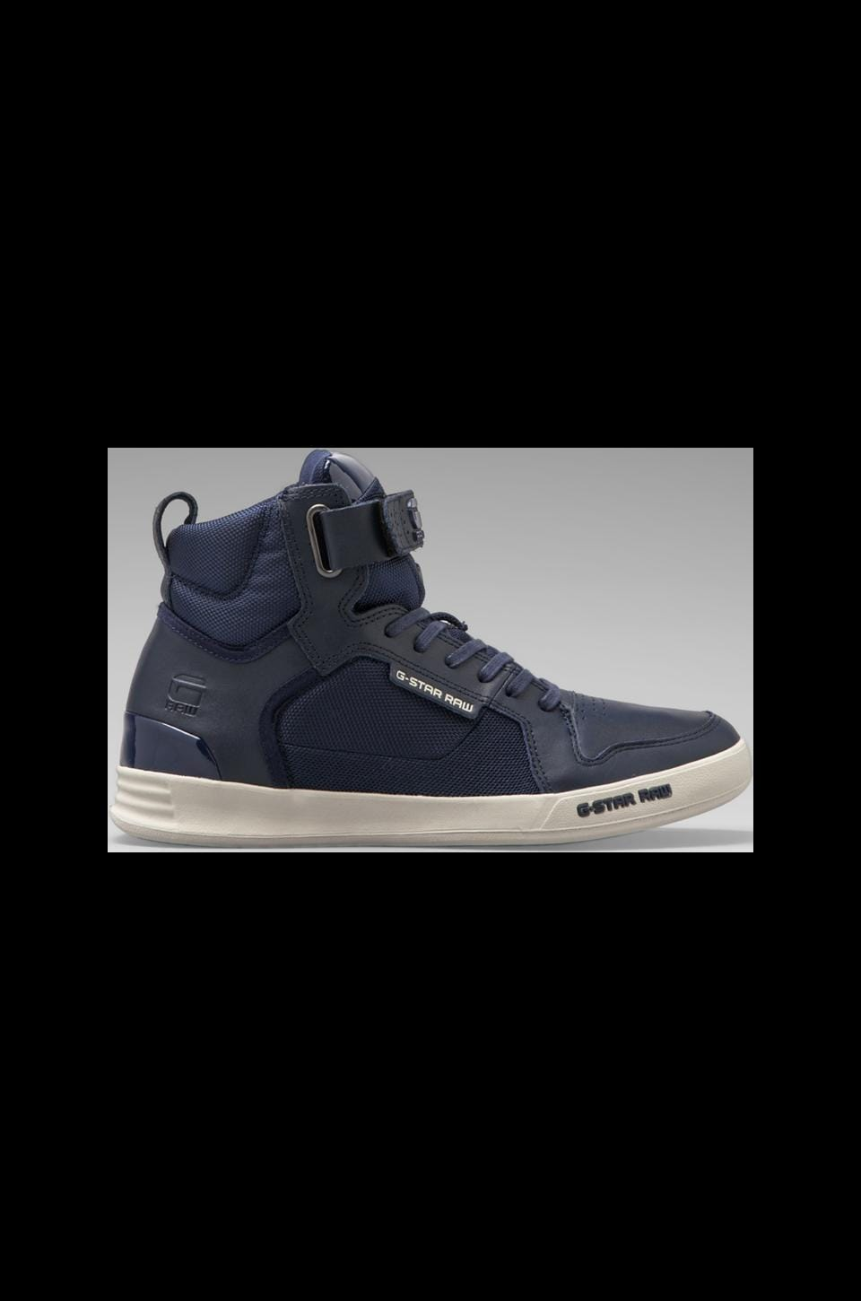 G-Star Yard Bullion in Navy Leather & Textile