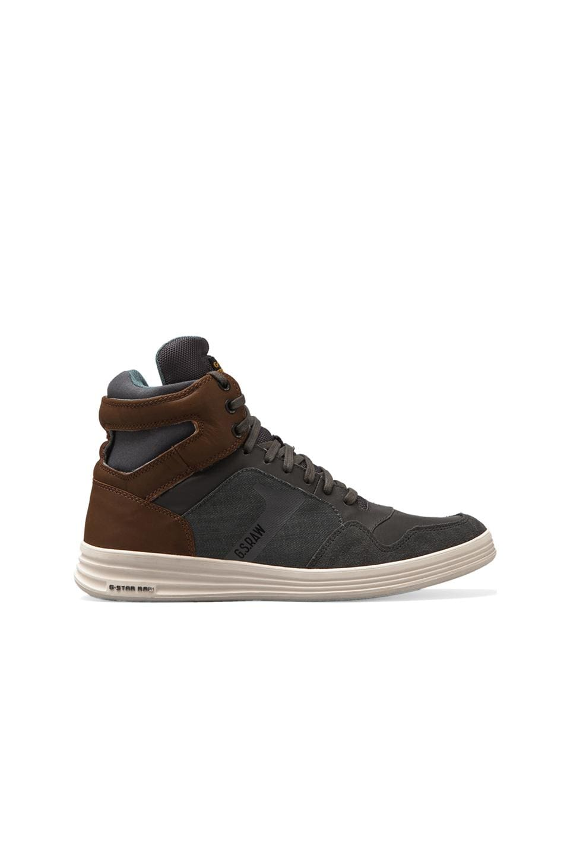 G-Star Futura Outland in Dark Grey Leather & Textile w/ Tan