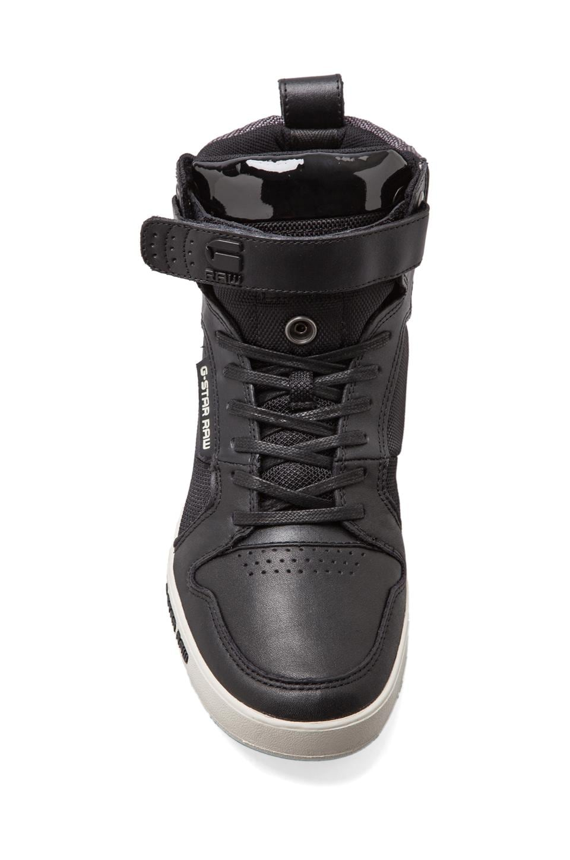G-Star Yard Bullion in Black Leather & Textile