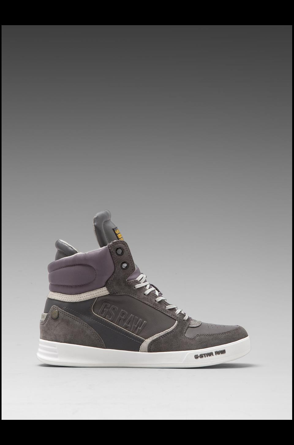 G-Star Yard Pyro in Dark Grey Leather & Suede