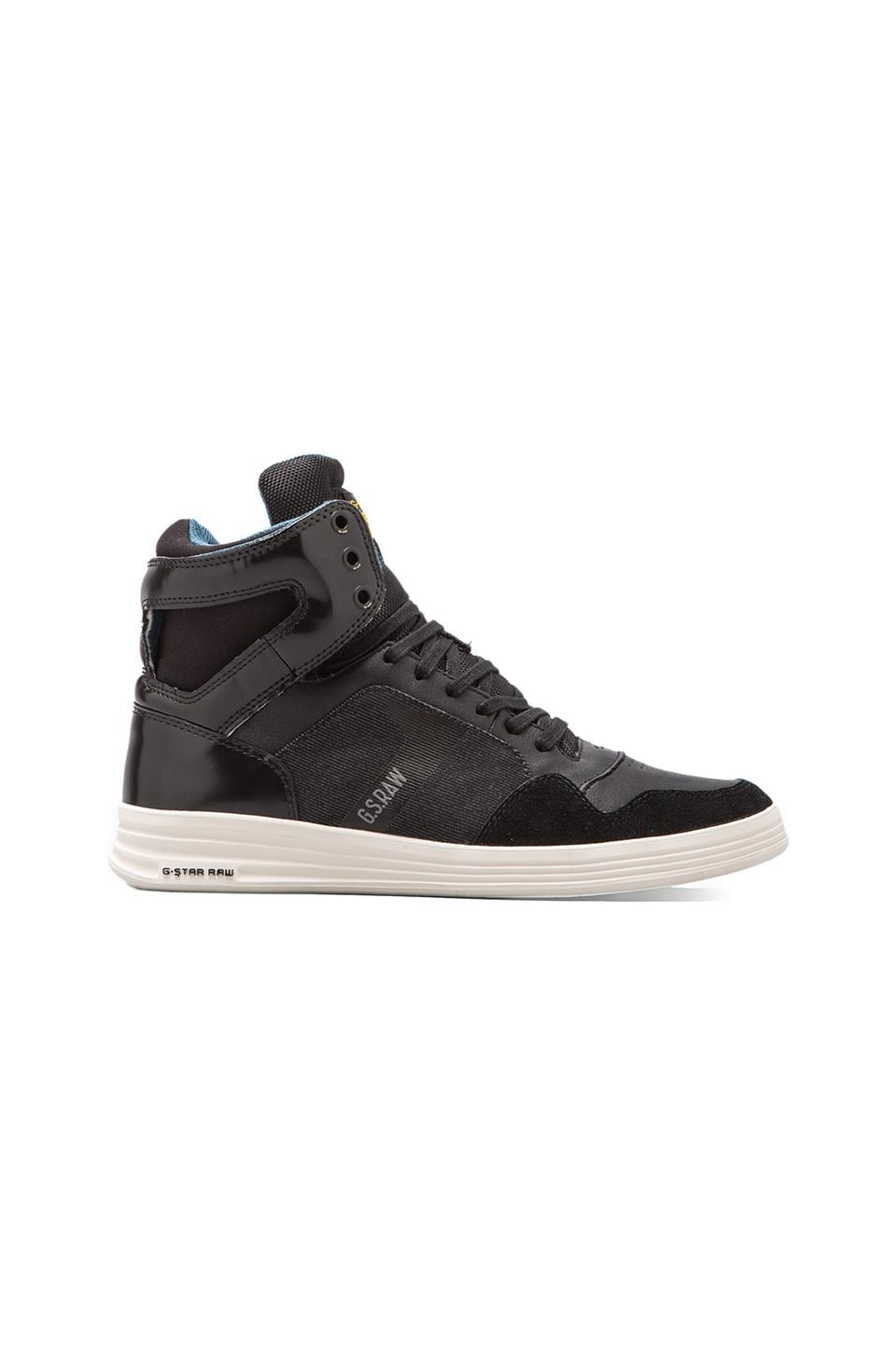 G-Star Futura Outland en Black Leather w/ Denim