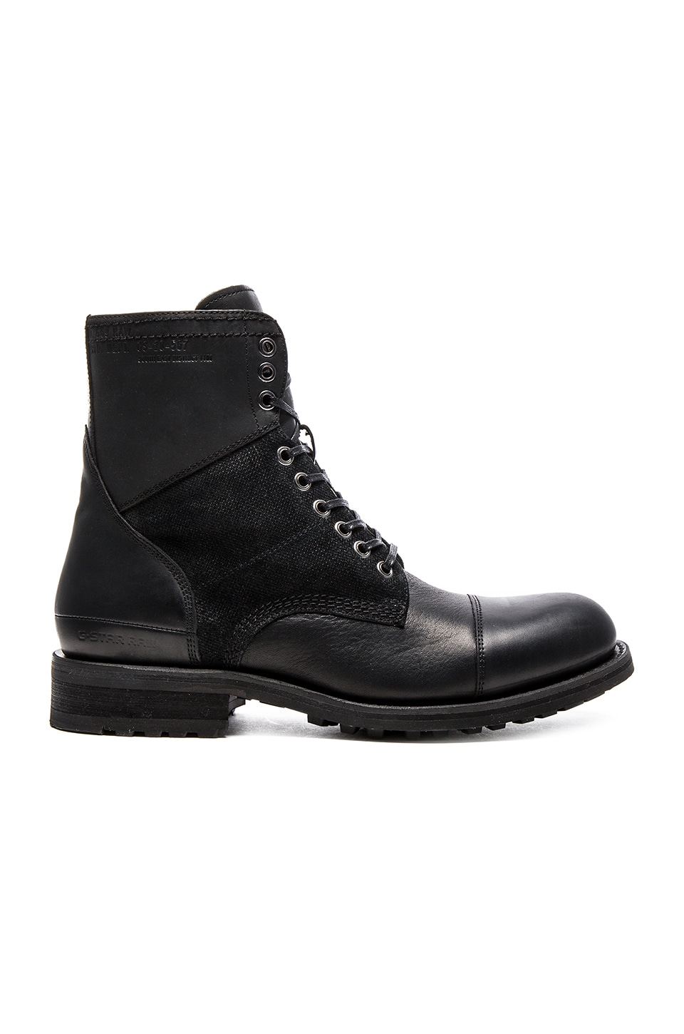 G-Star Patton V Battalion in Black Leather & Suede
