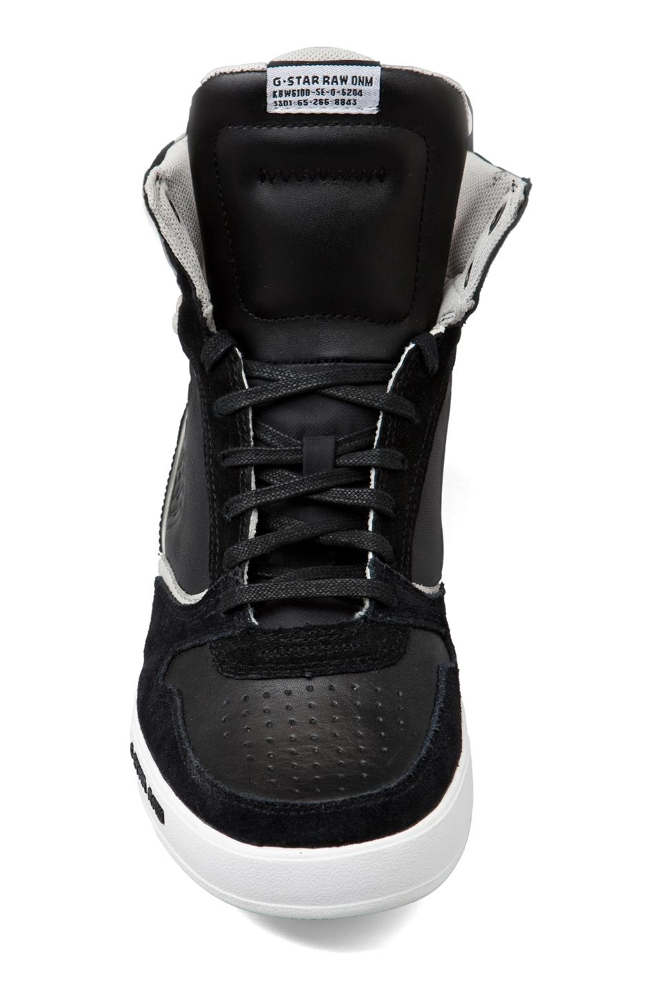 G-Star Yard Pyro Hi Top Sneaker in Black Leather/Suede