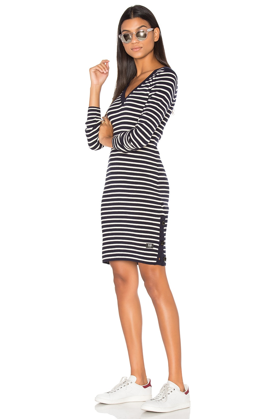 Imon V Neck Sweater Dress by G-Star