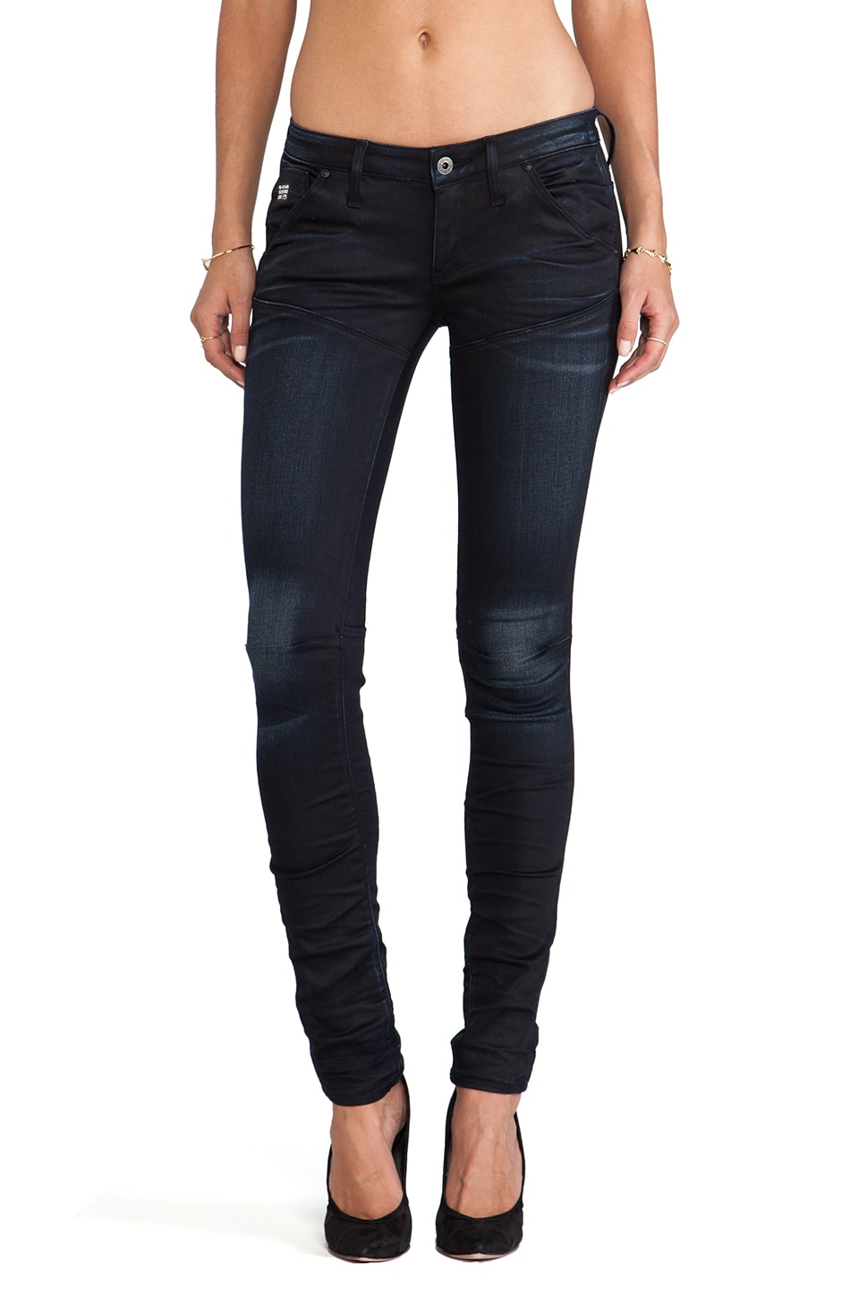 G-Star 5620 Slim Tapered in Slander Superstretch Dark Aged