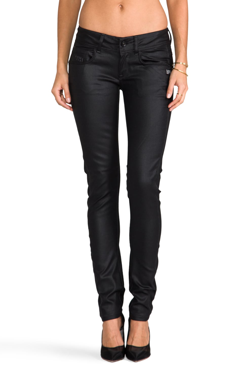 G-Star Midge Cody Skinny in New Comfort Mirror Denim Raw