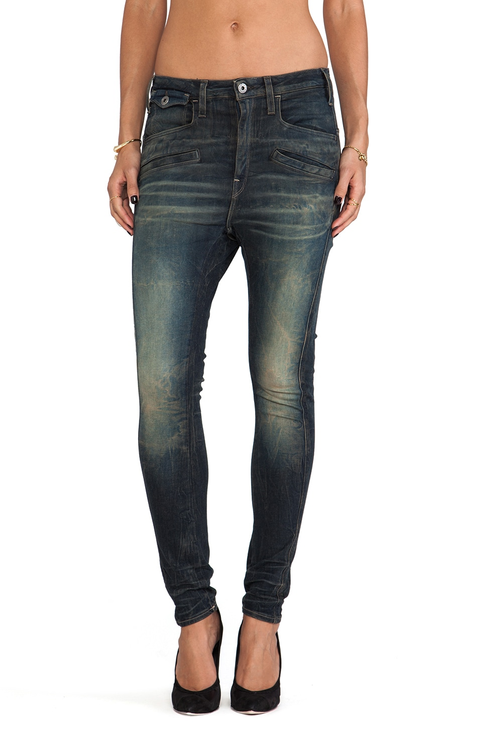 G-Star Davin 3D Tapered Jeans in Comfort Blight Dark Aged