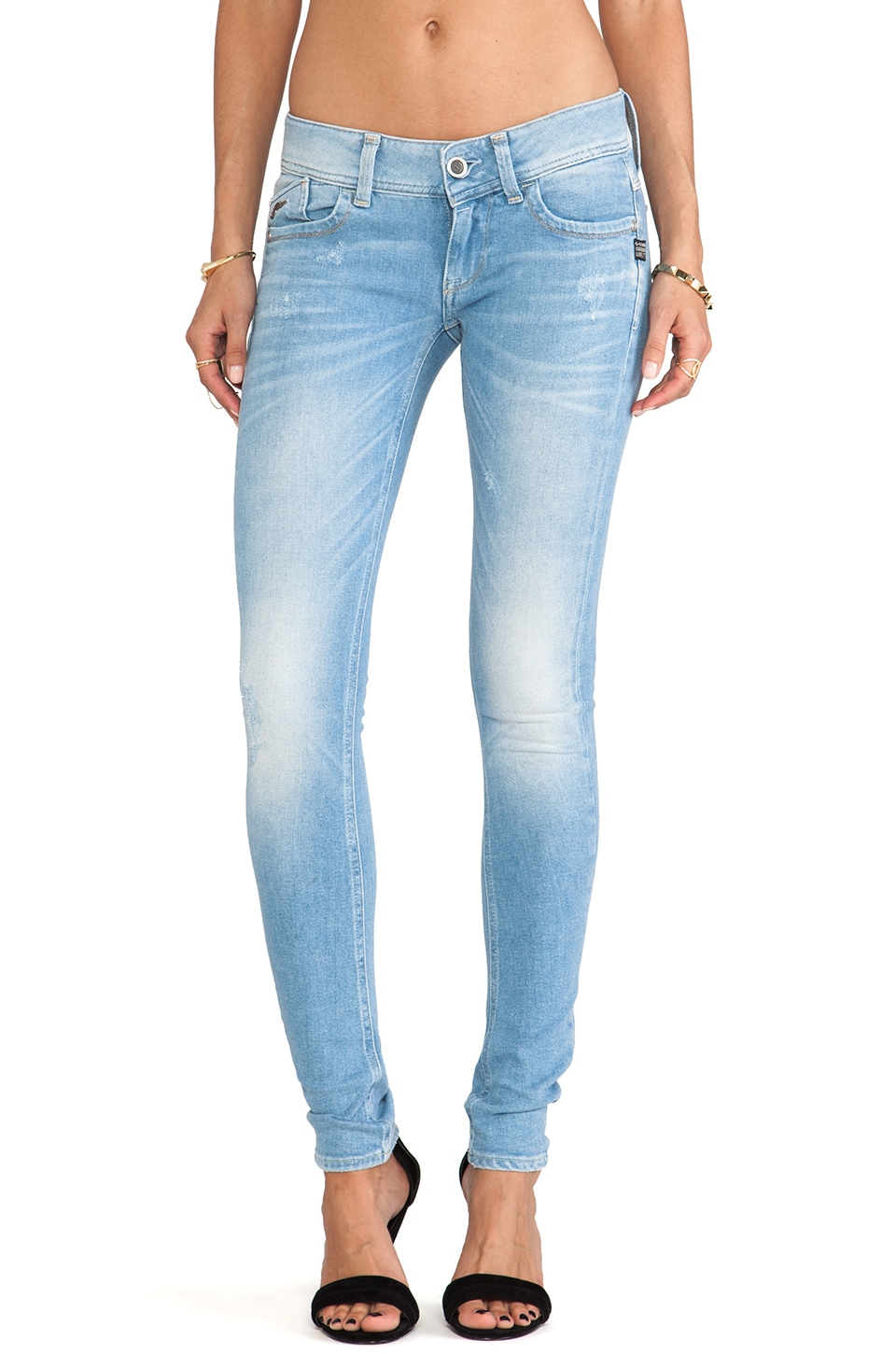 G-Star Lynn Skinny in Weldon Lightt Aged