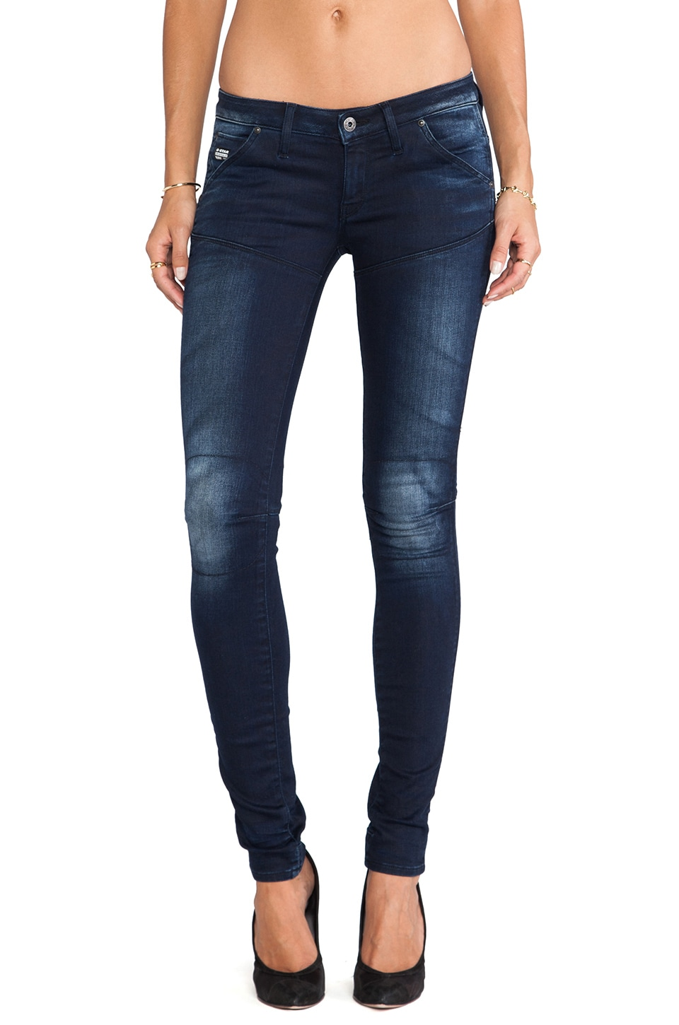 G-Star 5620 Slim Tapered in Slander Navy Super Stretch Dark Aged
