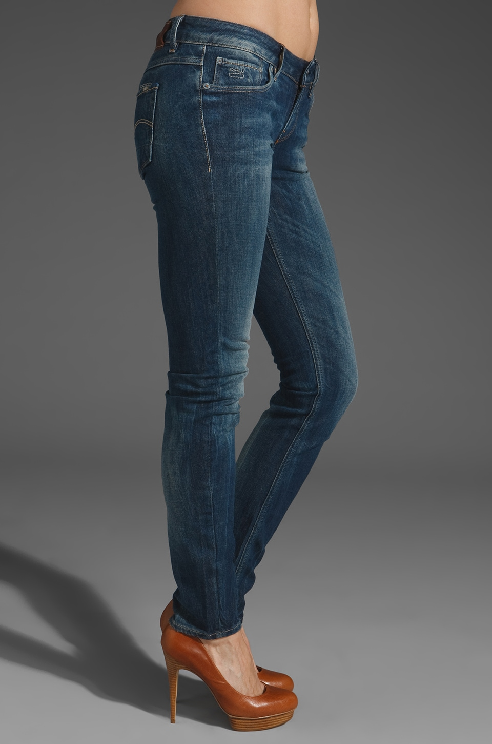 G-Star 3301 Skinny in Comfort D.I. Rugby Wash