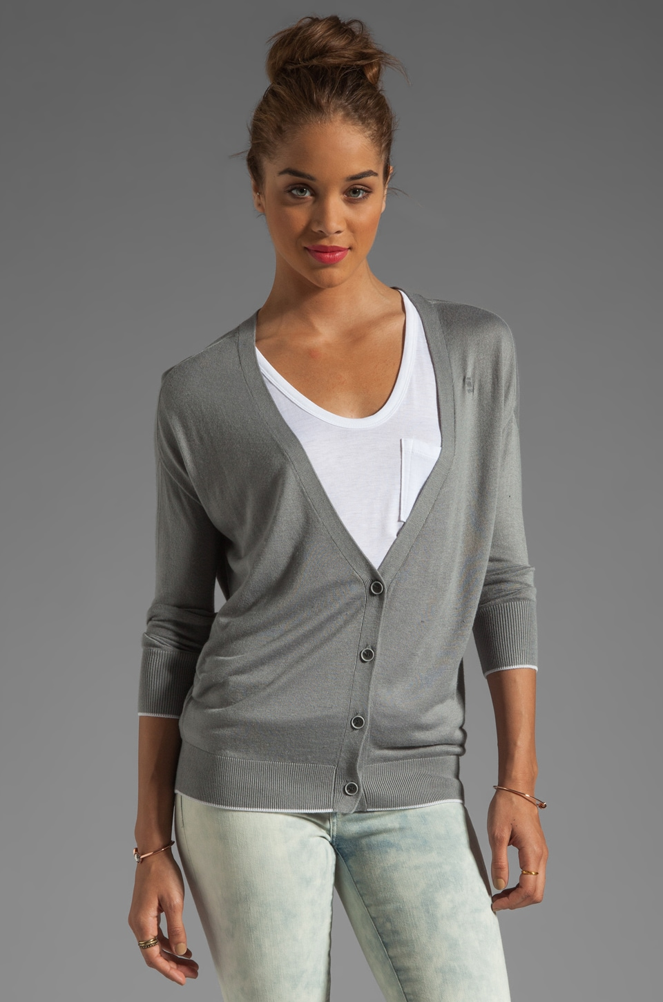 G-Star New Blast Cardigan in Winter Grey