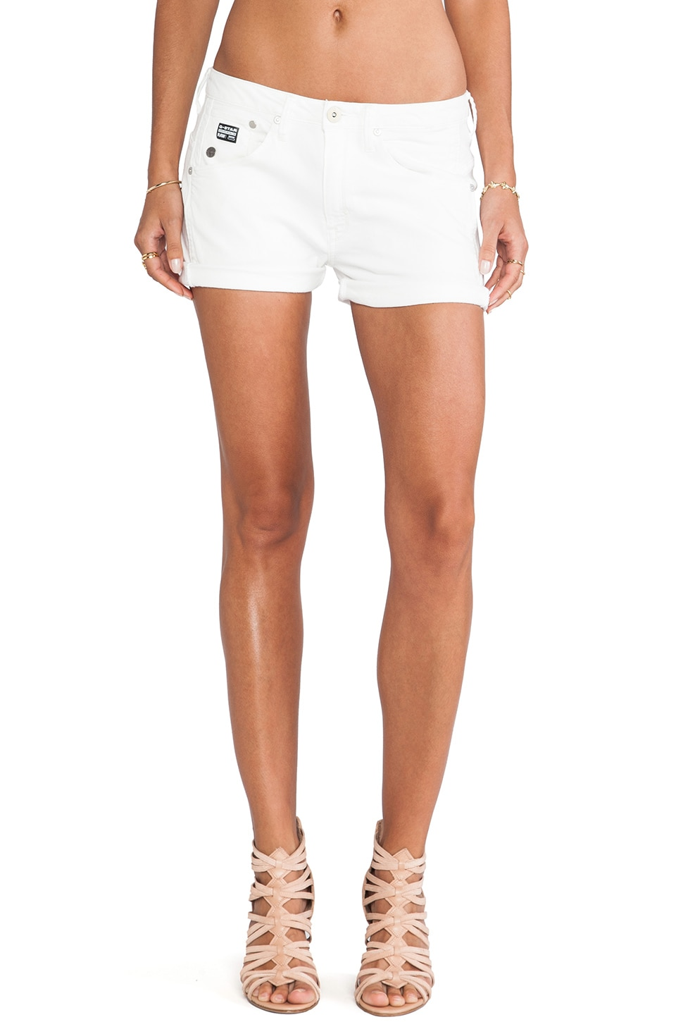 G-Star Arc BFF Short in White Talc Lt Aged