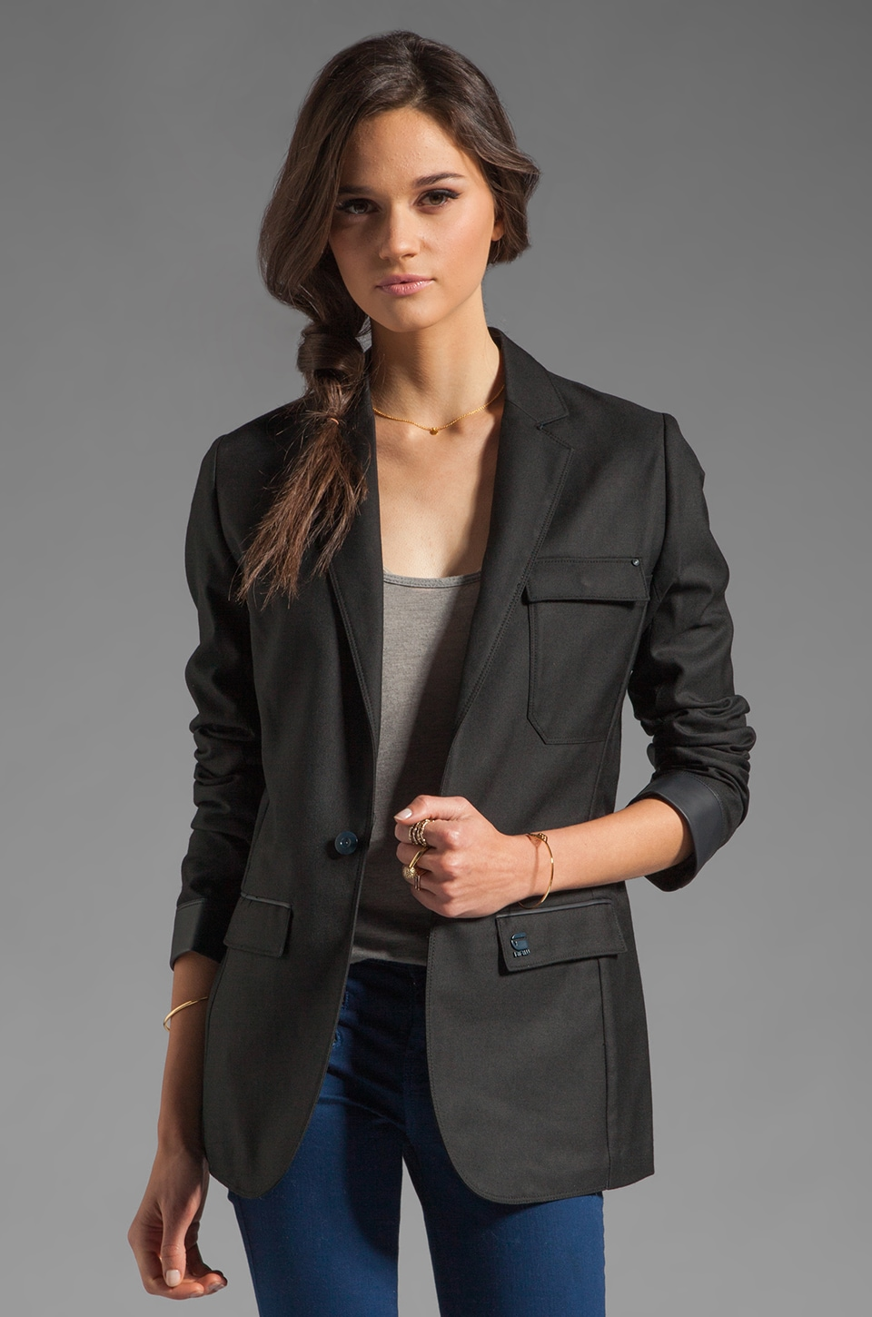G-Star Alpine Boyfriend Blazer in Black