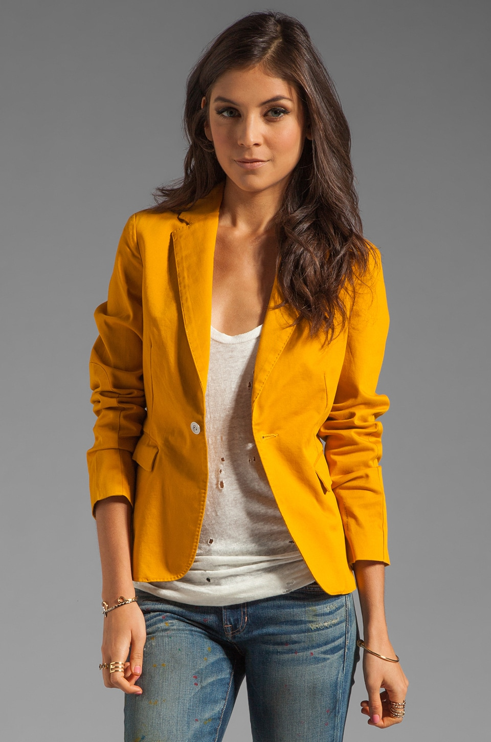 G-Star Olympia Blazer in Golden Yellow