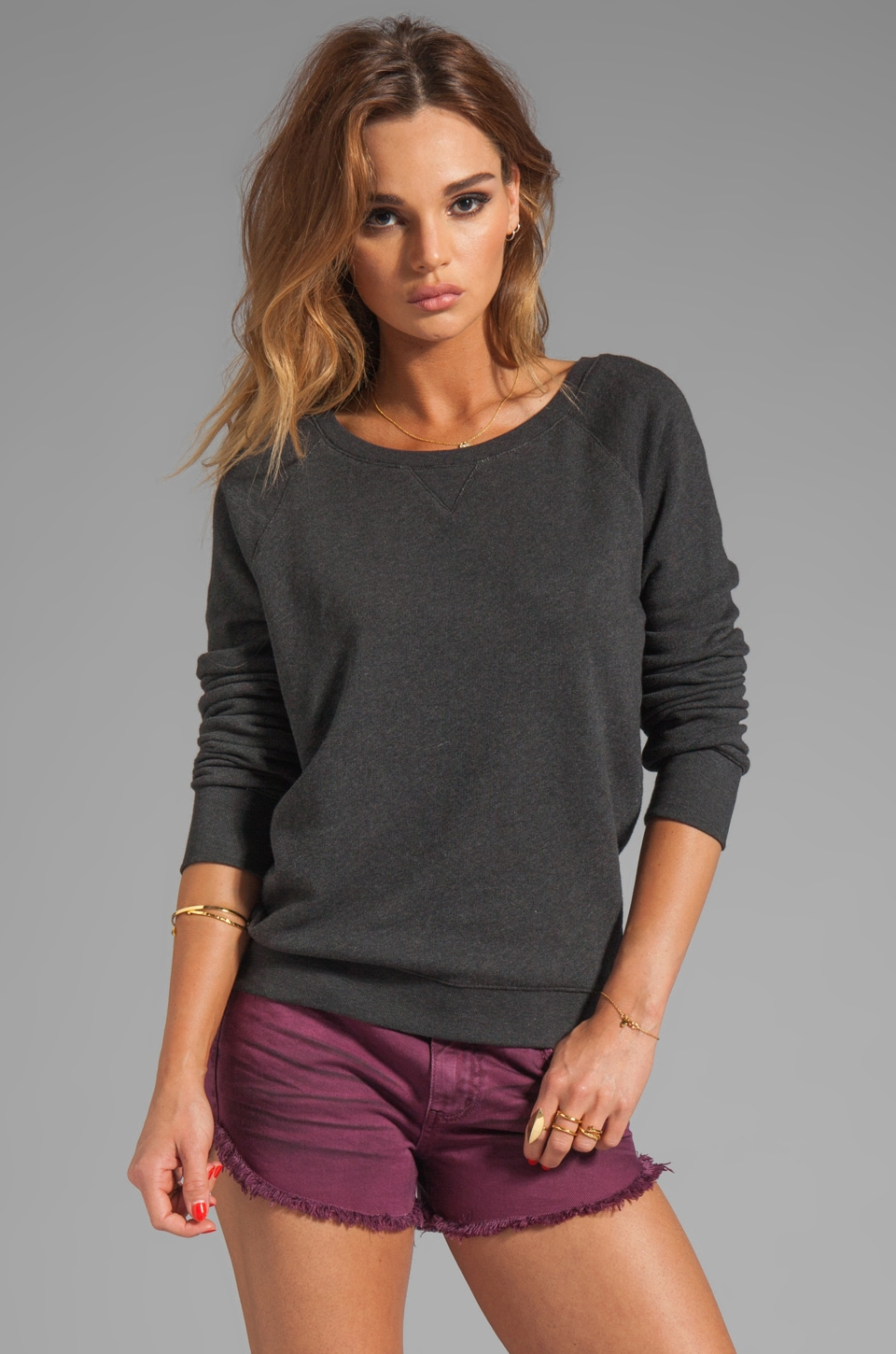 G-Star Slim Sweatshirt in Black Heather