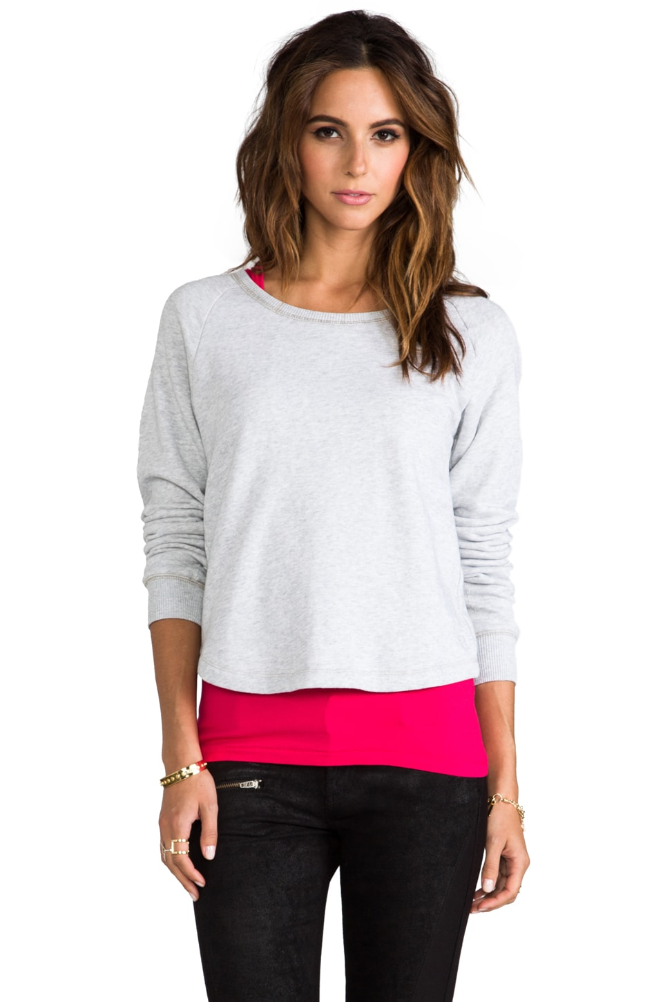G-Star Roots Double R-Neck Sweatshirt in Sports Heather