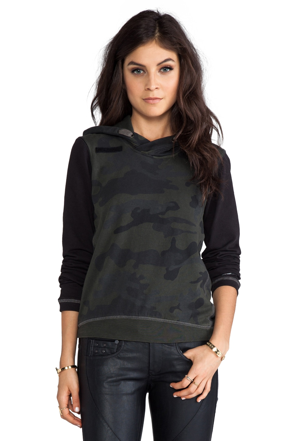 G-Star Field Hooded Sweatshirt in Arsenic