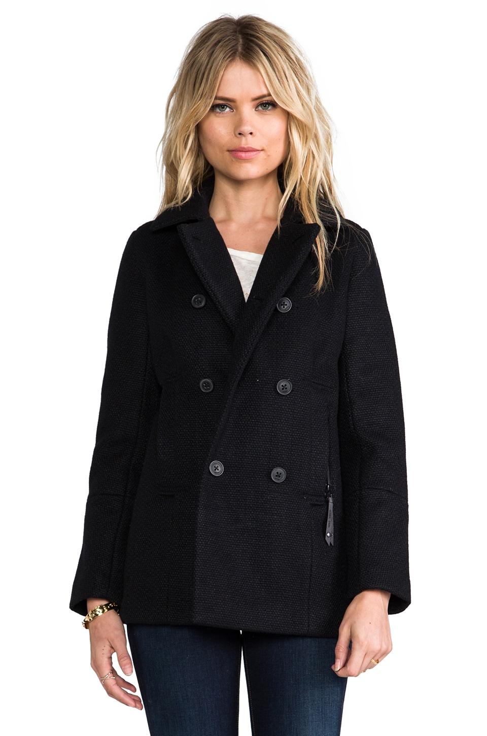 G-Star CLASSIC WOOL PEACOAT in Black