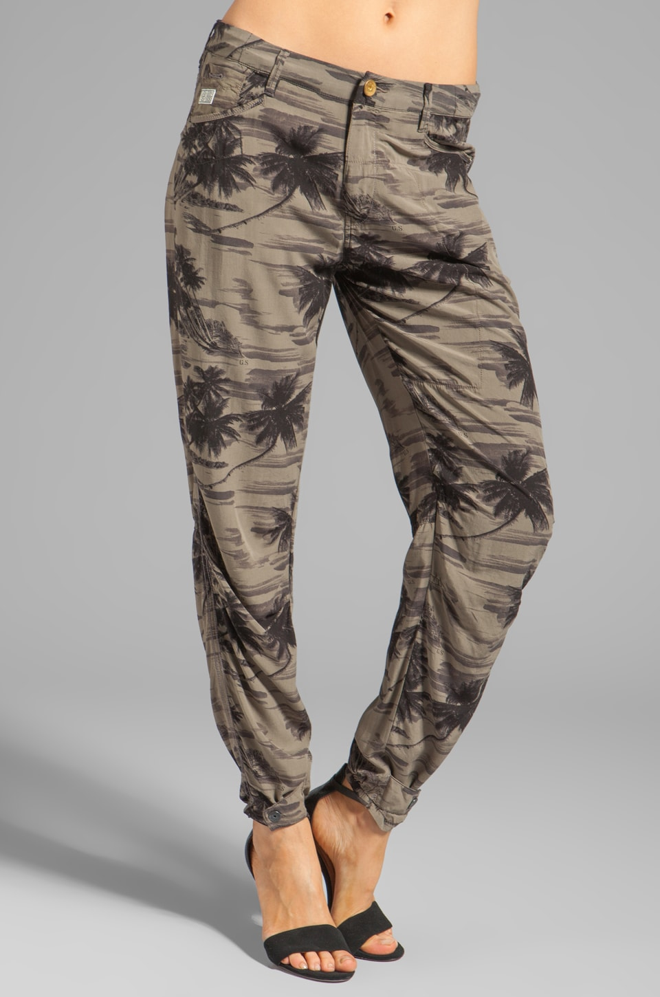 G-Star Beach Rovic Camo 3D Loose Pant in Magma