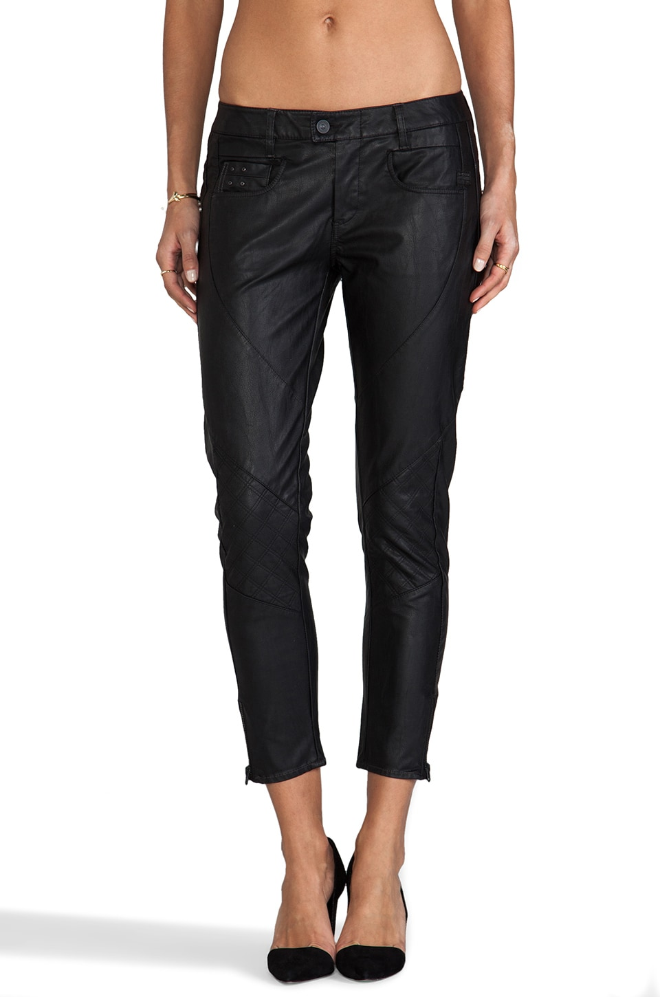 G-Star Raw Radar Skinny Ankle Pant in Black
