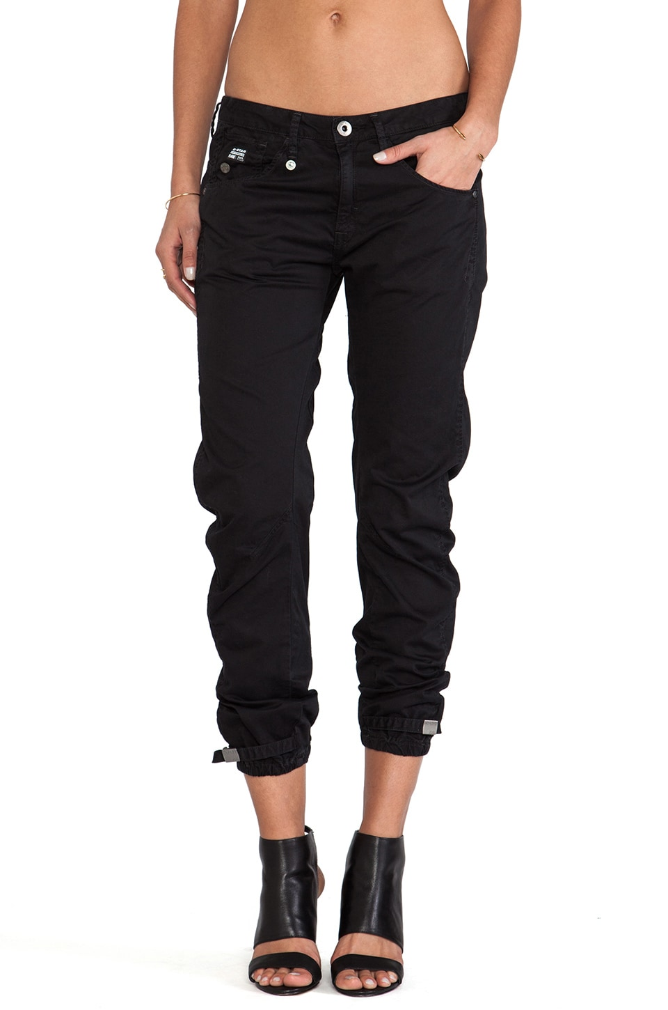 G-Star Arc 3D Kate Tapered Pant in Black