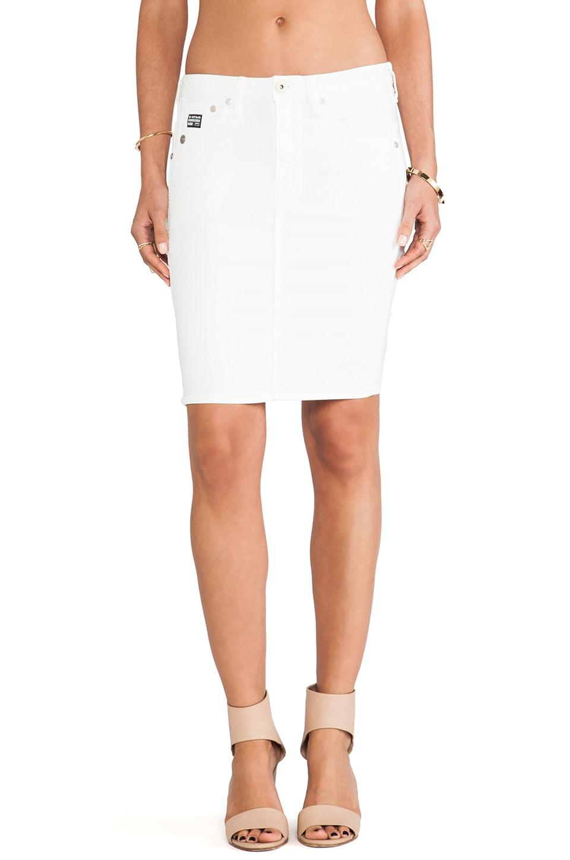 G-Star Arc Super Slim Skirt in White Talc Lt Aged