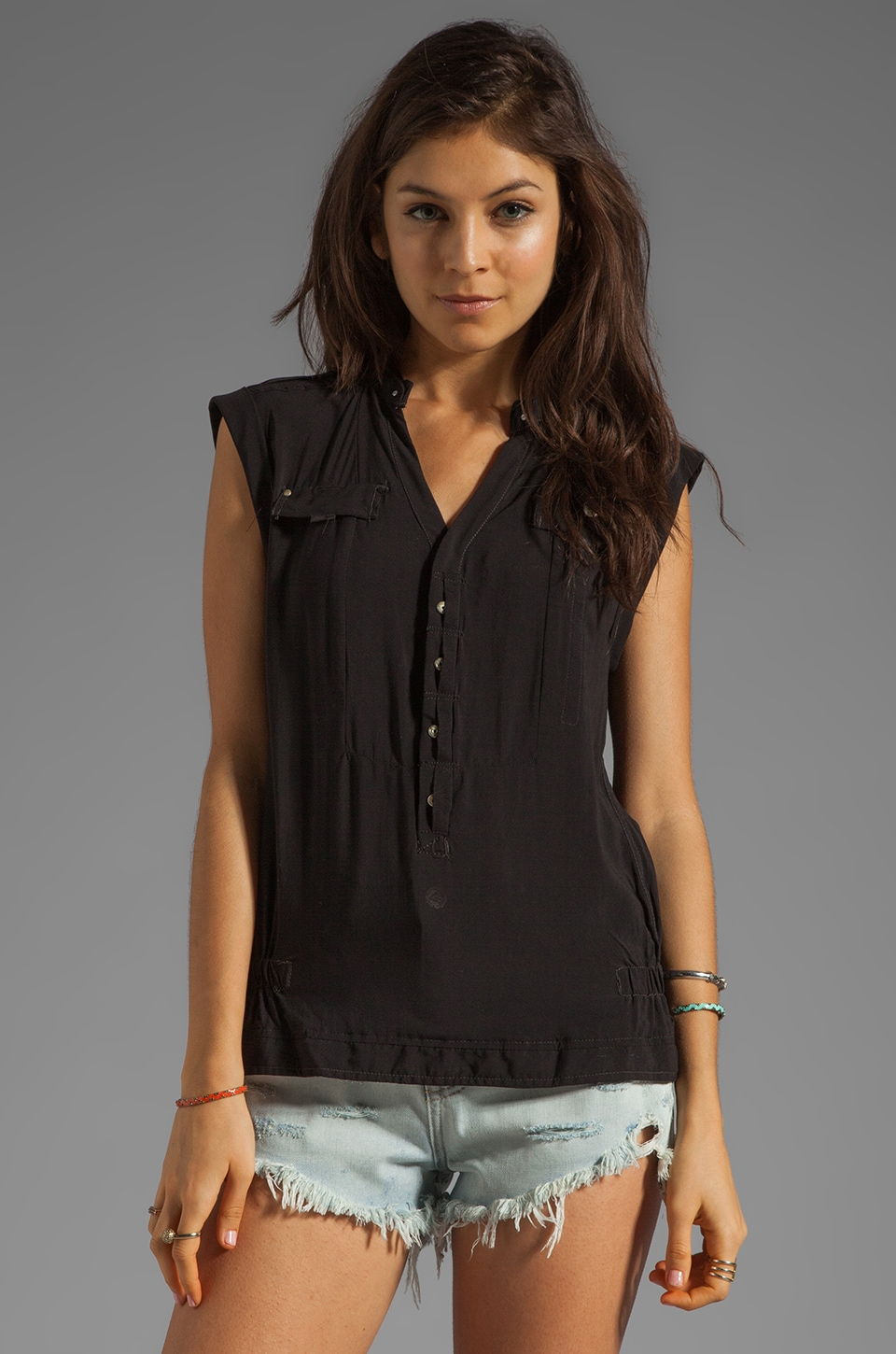 G-Star Tooper Crusader Sleeveless Top in Black