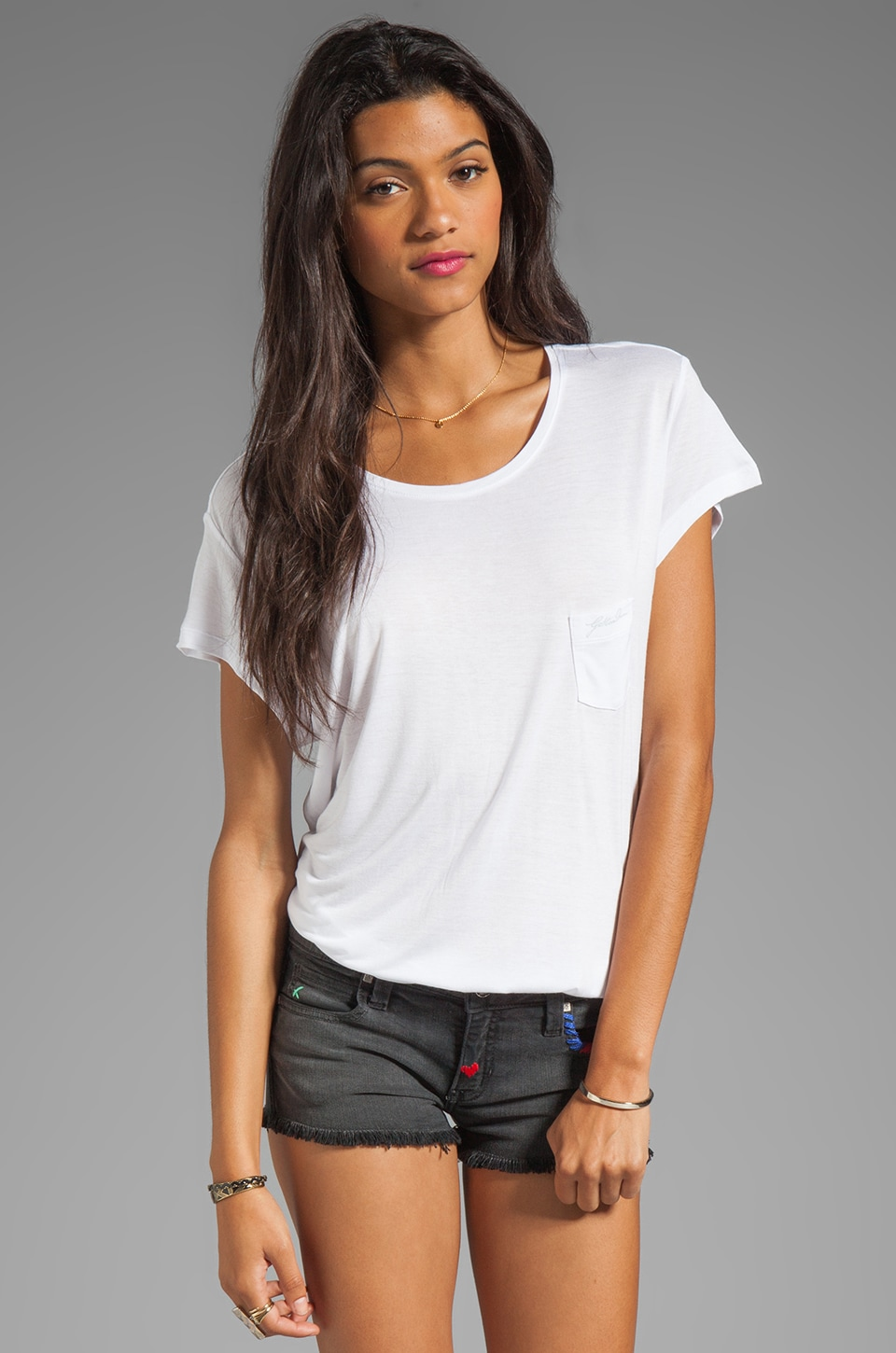 G-Star Loose R T Tee in White
