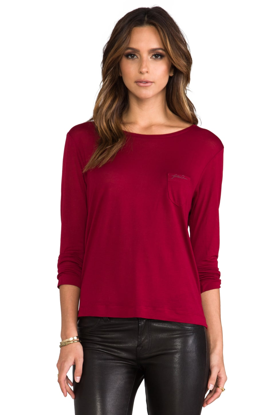 G-Star Loose R T Long Sleeve in Cheaux Red