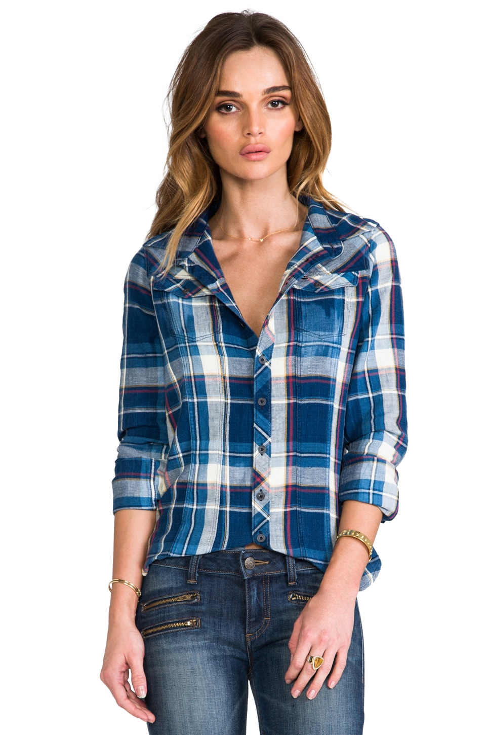 G-Star Tailor Check Plaid Shirt in Medium Aged