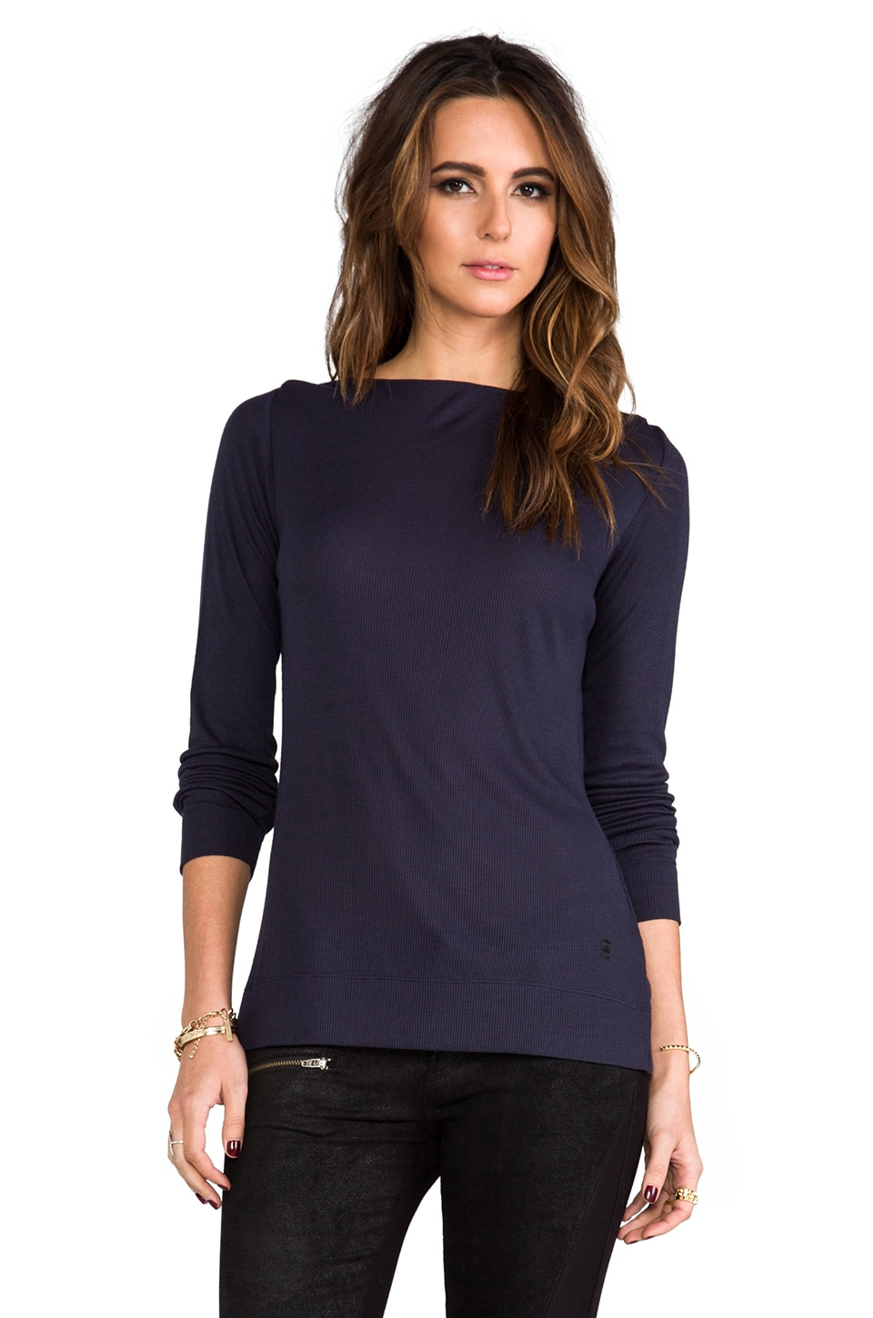 G-Star Flores Boatneck in Naval Blue