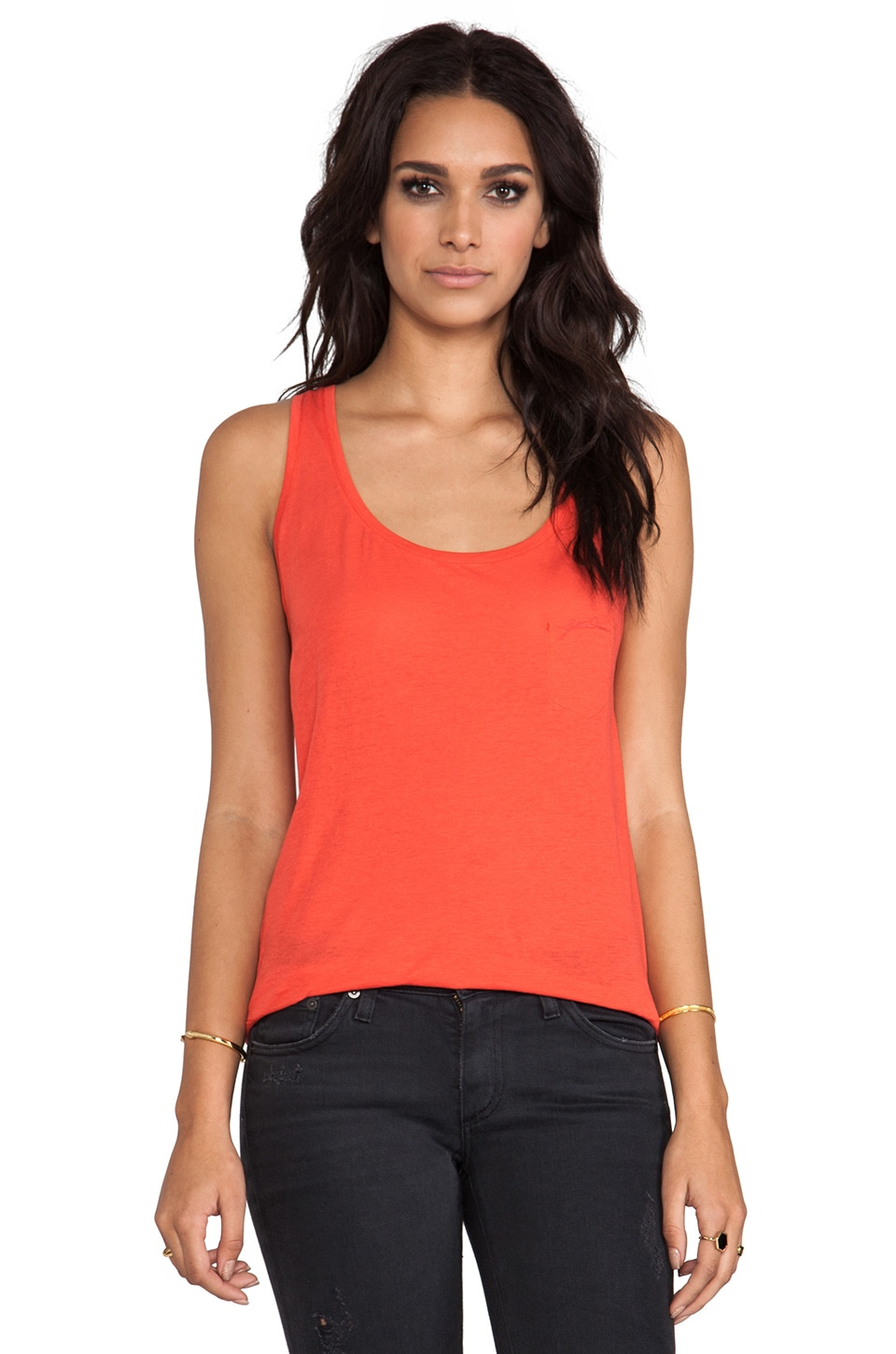 G-Star Loose Tank in Light Scarlet