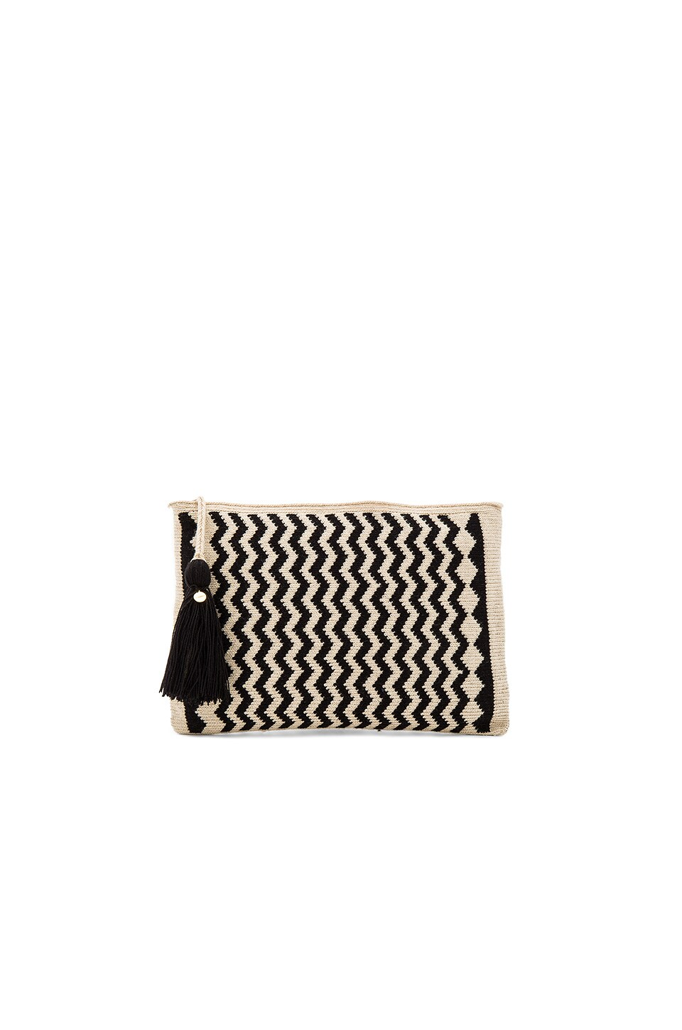 Guanabana Zig Zag Clutch in Black