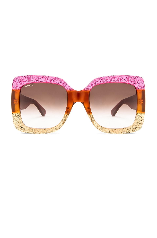 Gucci LUNETTES DE SOLEIL CARRÉES GRAND FORMAT ACÉTATE en Shiny ... fb59095a2ea5
