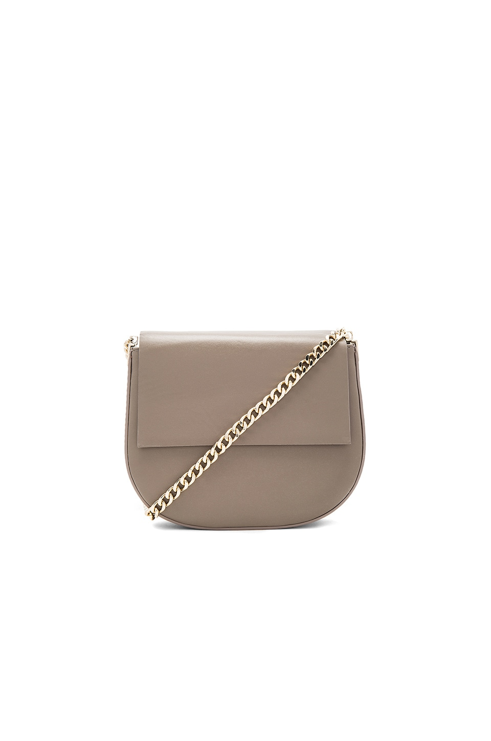 Gvyn Lou 2.0 Shoulder Bag in Taupe & Gold