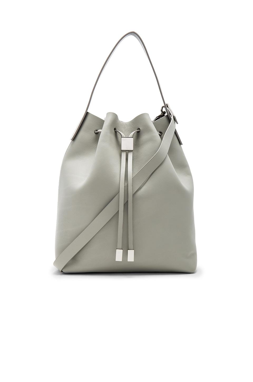 Gvyn Yuri Bucket Bag in Cement & Silver