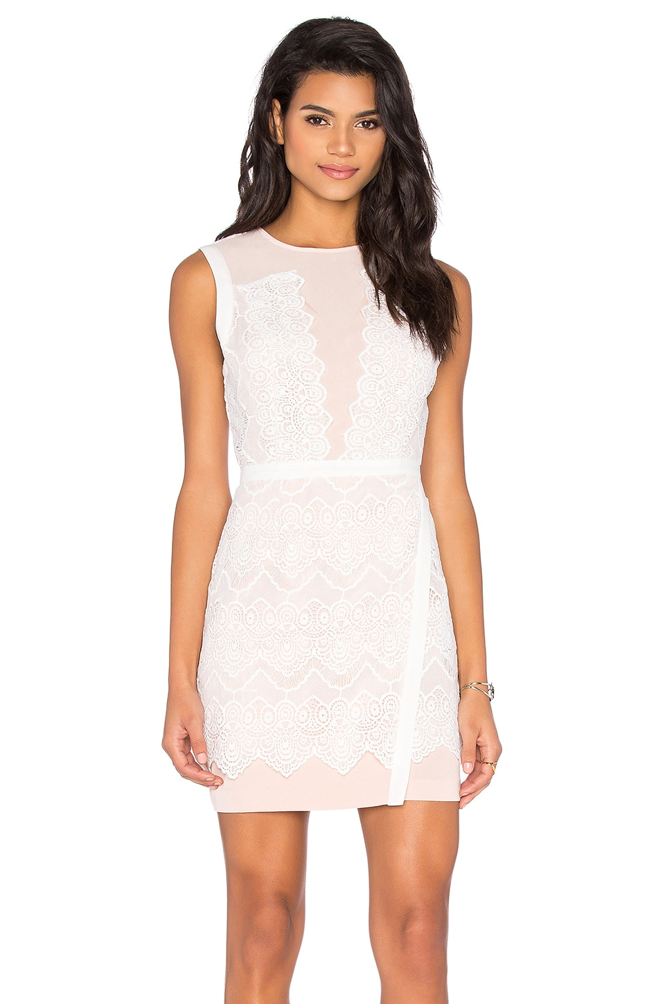 Lana Two Tone Lace Dress by Greylin