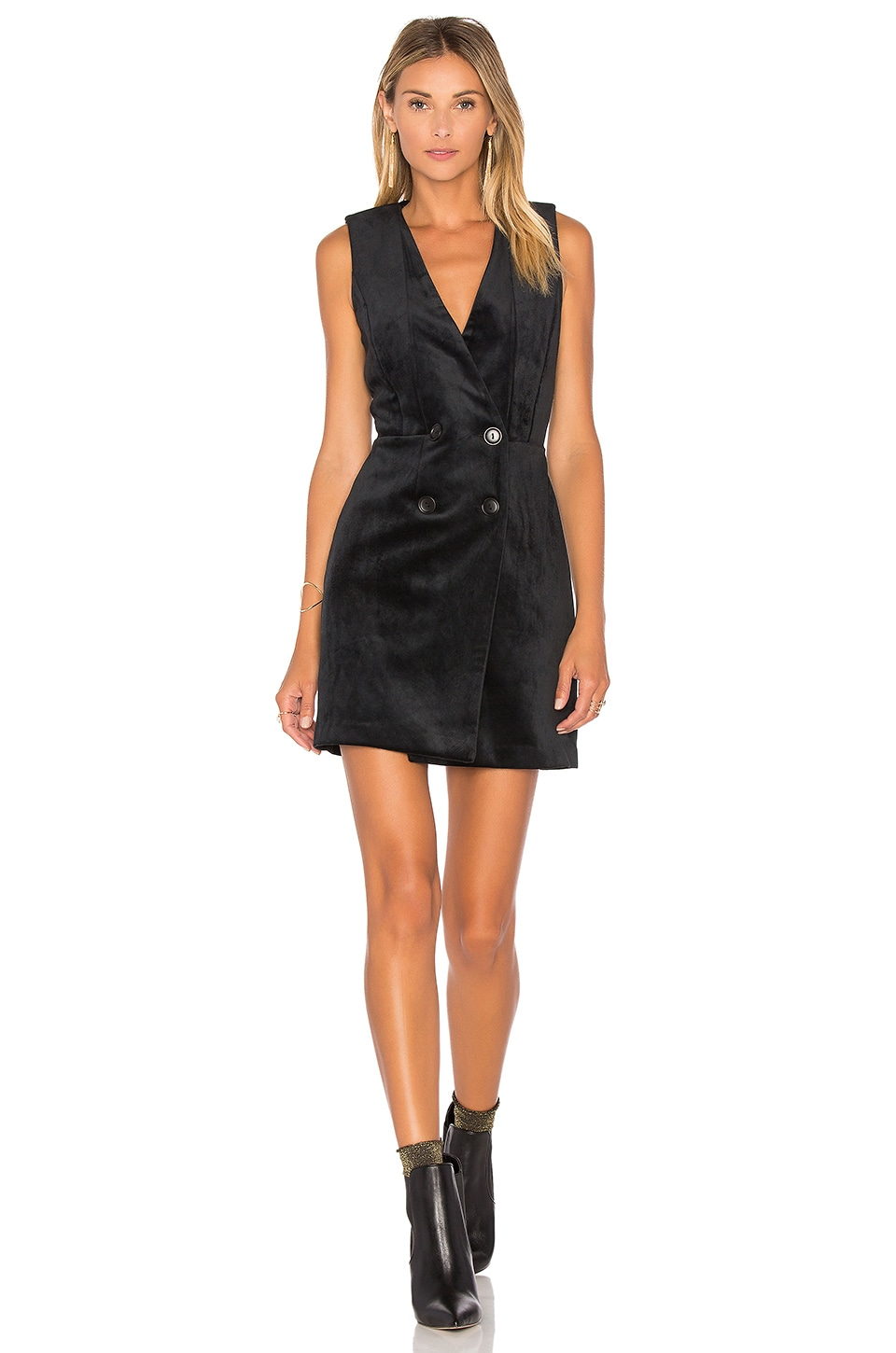 Thompson Velvet Tuxedo Dress by Greylin