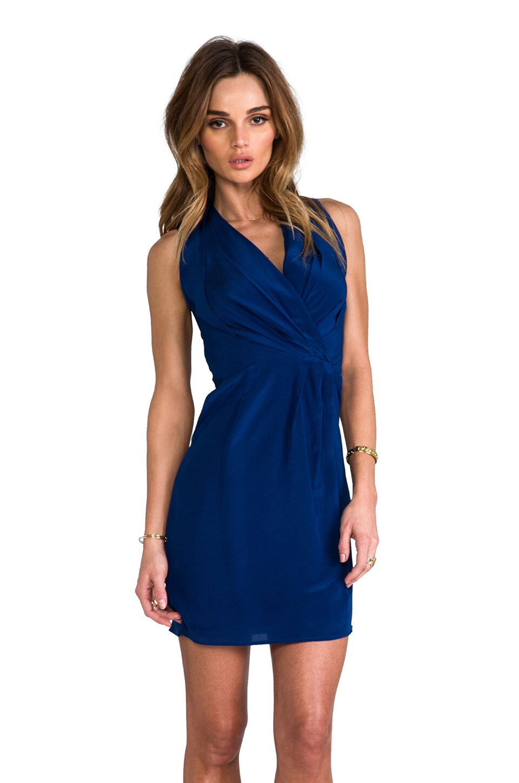 Greylin Camila Silk Crepe Dress in Azul