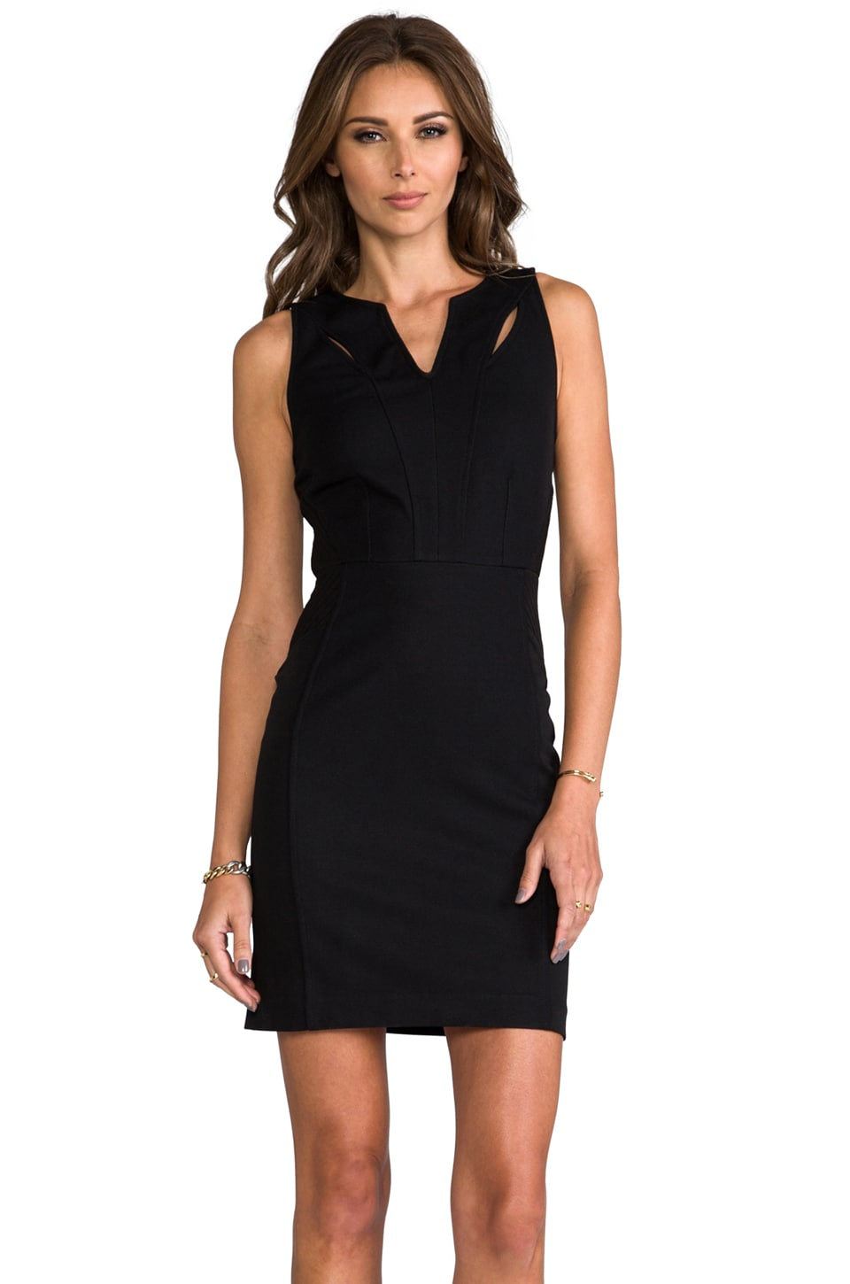 Greylin Victoria Cutout Dress in Black