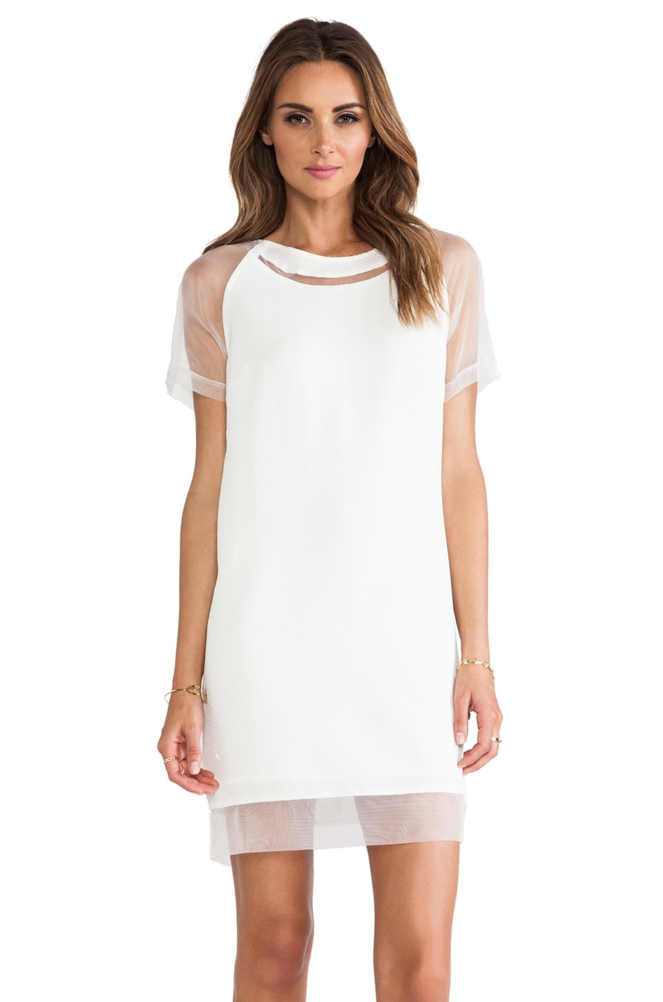 Greylin Aimee Shift Dress in White