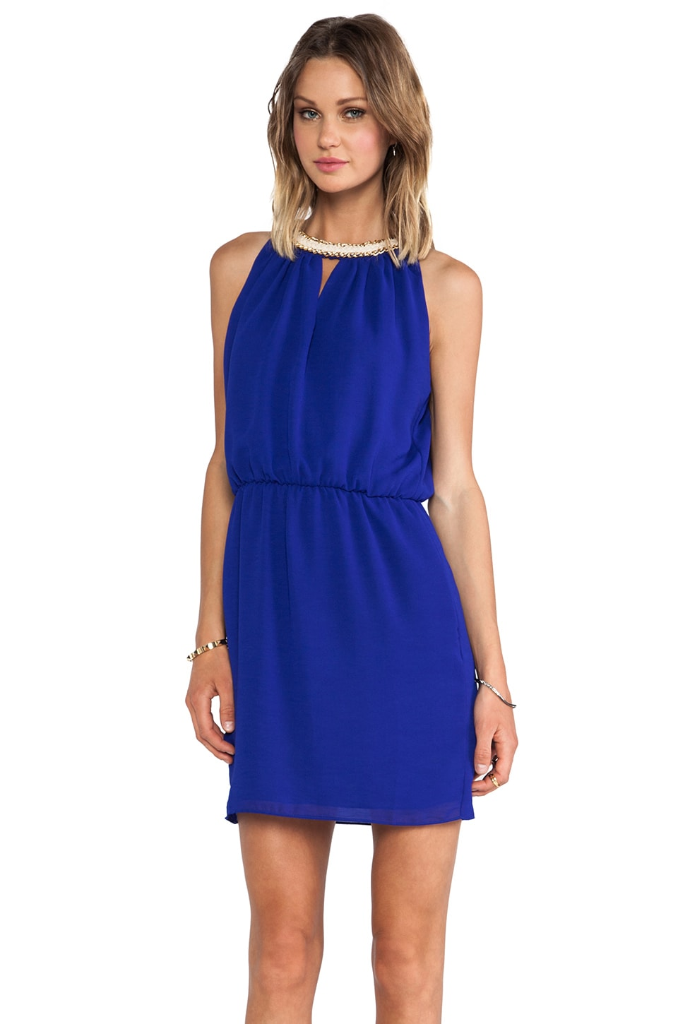 Greylin Betty Chain Dress in Cobalt
