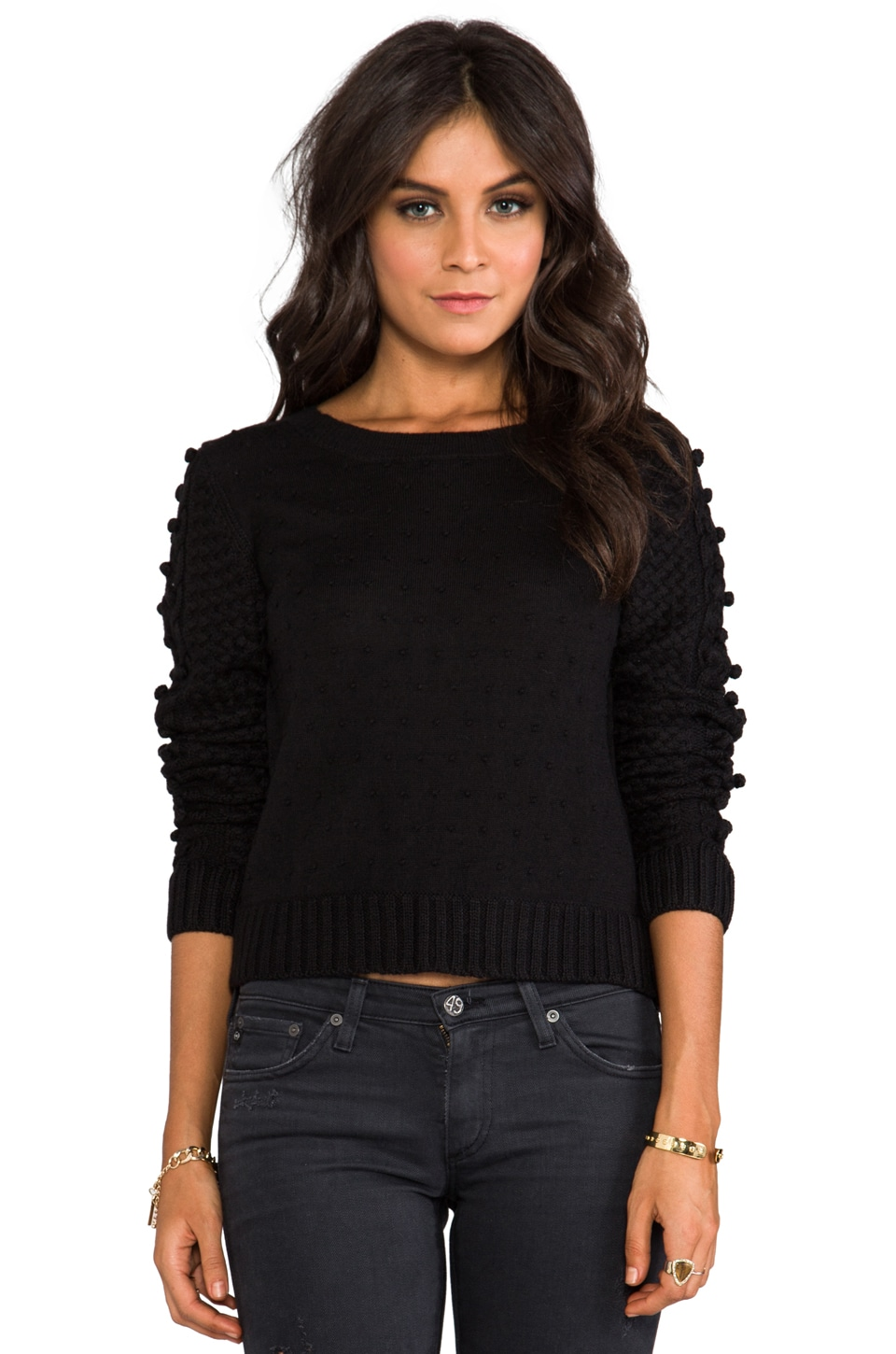 Greylin Dot Lover Sweater in Black