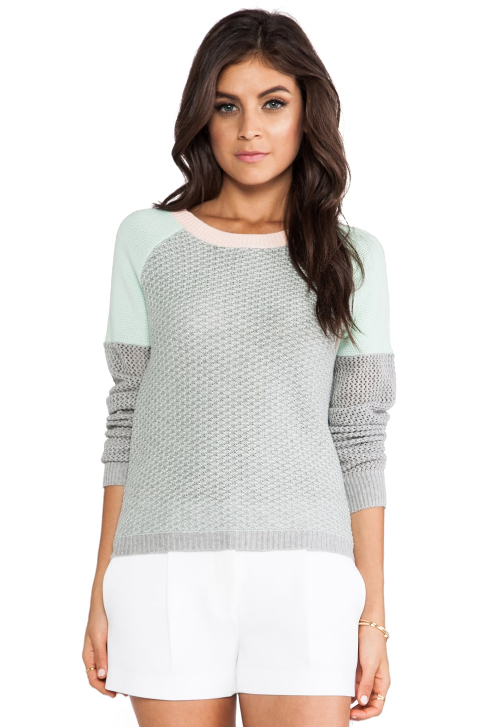 Greylin Dharma Hive Pullover Sweater in Mint