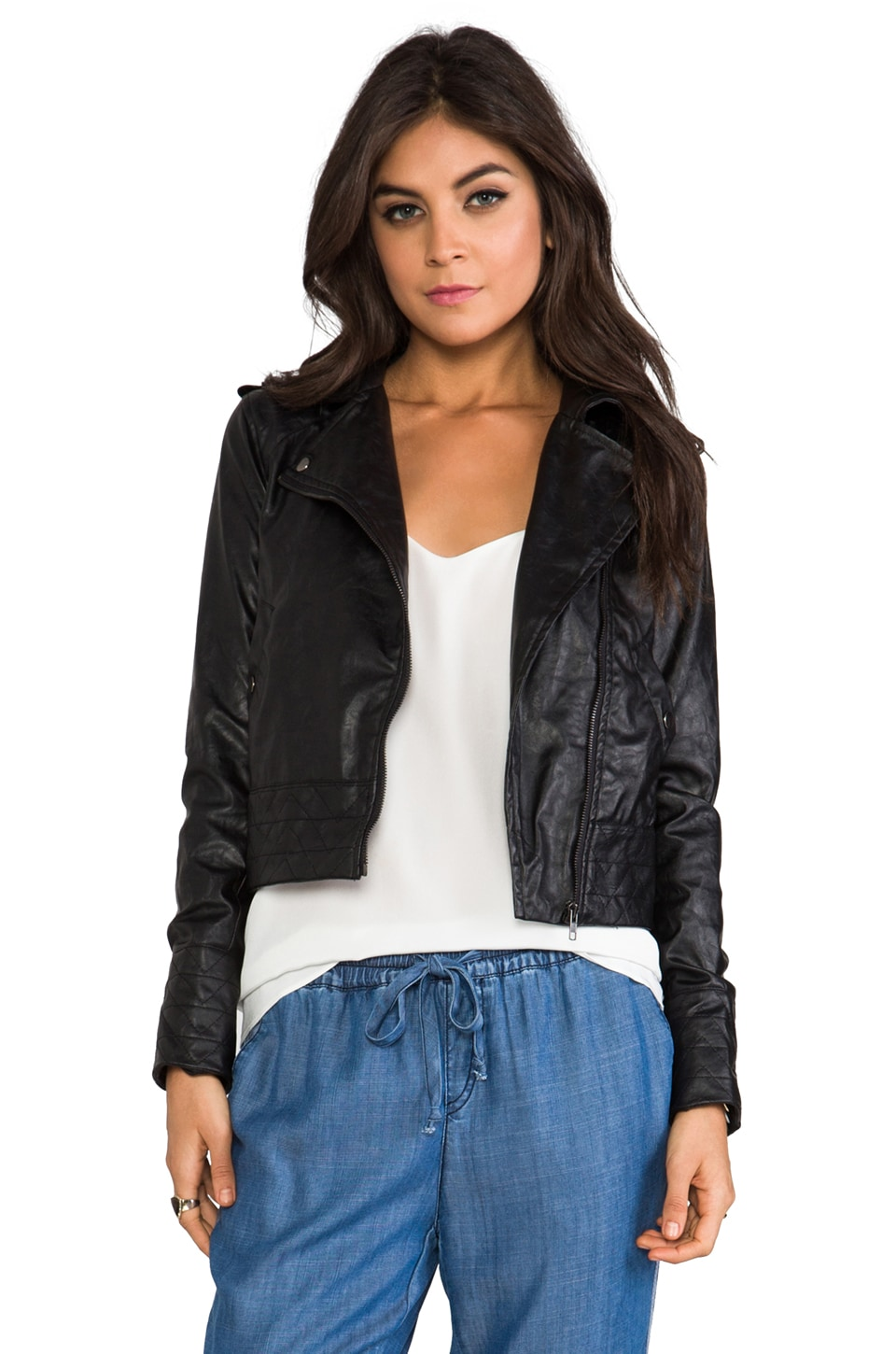 Greylin Roxie Faux Leather Jacket in Black