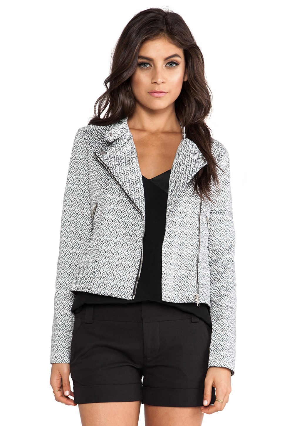 Greylin Regan Moto Jacket in Black & White